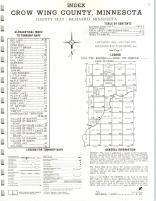 Index Map, Crow Wing County 1972